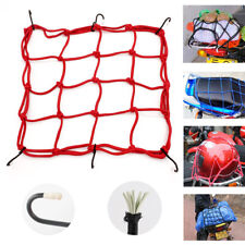 1PC Motorbike Motorcycle Helmet Bungee Luggage Cargo 6 Hooks Net Hold Down Red