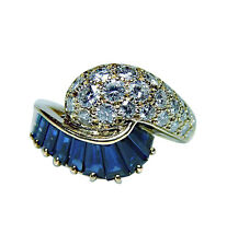 Oscar Heyman Sapphire Diamond Ring 18K Gold Certified by OHB