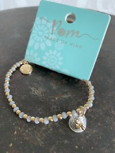 POM Boutique Silver Plated  Honey Bee And Beehive Beaded Bracelet