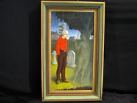 SURREALIST OIL/ACRYLIC PAINTING - NUDE & OLD MAN - P.C.C. MANCHESTER
