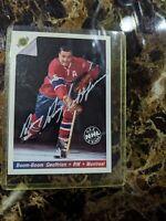 Bernard Geoffrion Autographed Hockey Trading Card Boom Boom