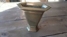 Antique Federal Colonial Brass Vase 5 x 4.5 x 2.5 inches