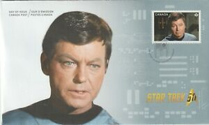 Canada 2016 FDC #2921 Star Trek (McCoy) - Unused