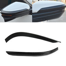 Carbon Fiber Texture Side Mirror Rearview  Strip Fit For Honda Civic 2016 2017