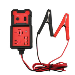 12V Electronic Automotive Relay Tester for Universal Cars Auto Battery Checker