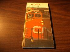 1980 CANADIAN NATIONAL RAILWAY SYSTEM MAP