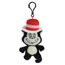 Dr Seuss Plush Cat In The Hat Key Clip by Aurora *BRAND NEW*