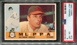 1960 Topps #12 Milt Pappas PSA 6.5 EX-MT+