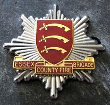 More details for essex county fire brigade cap badge. gilt variant