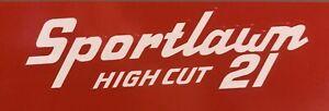 "Toro Sportlawn 21"" Decal Set, Lawn Mower Vintage Restoration Set 2"