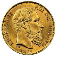 Belgium Gold 20 Franc 1867-1882 King Leopold II .1867oz AU+ (Dates our Choice)