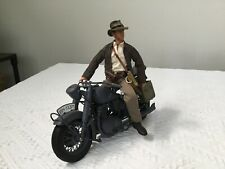 Custom 1/6th scale ROTLA Indiana Jones Figure with WWII Motorcycle / Marx Horse