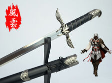 ASSASSINS CREED Altair Sword + Sheath + Shelf + Plate Blade Katana Cosplay Prop