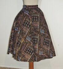 Darling 1950's Metallic Painted Circle Skirt w- 25 SM