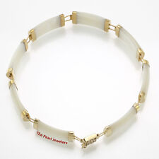 "8 Segments Mother of Pearl 14k Yellow Gold ""Joy"" Clasp Bracelet TPJ"