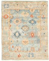 "Hand-knotted Carpet 7'11"" x 9'10"" Bordered, Traditional Wool Rug"