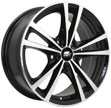 MST Saber 17x7.0 5x110 +45 72.69 Glossy Black w/Machined Face Wheels (Set of 4)