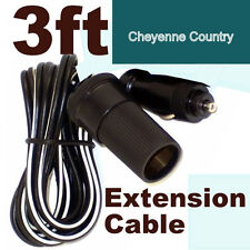 12V Cigarette Lighter Power Extension Cable for Boats Trucks RV & ATV cc