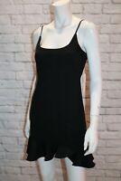 SAINTS SECRETS Brand Black Frill Hem Sleeveless Dress Size 10 BNWT #SQ102