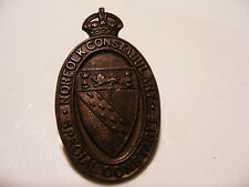 Norfolk  Police  Constabulary  Special  Constable  Oval  Bronze  Badge Length 2""