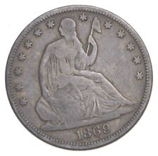 1869 Seated Liberty Half Dollar - Charles Coin Collection *421