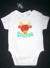 May TAURUS Bull Zodiac Sign Baby One-piece Bodysuit 3-6 month Boy Girl Underwear