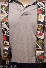 """Suspenders 2""""x48"""" FULLY Elastic Gardener Seed Packet NEW Black"""
