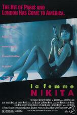 La femme Nikita femme fatale vintage movie poster print