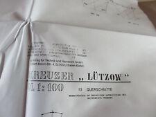 """Baupläne Kreuzer """"Lützow"""" ex Deutschland  1:100"""