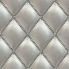 PE01032 Galerie Exposed con textura característica Papel Pintado Plata Acolchado Cabecero
