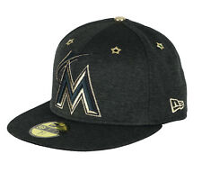 New Era Florida Marlins Asg 59Fifty Berretto Taglie 7 1 2 Nero Oro All Star 4c1ce549c88d