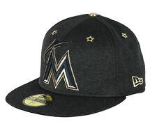 New Era Florida Marlins Asg 59Fifty Berretto Taglie 7 1 2 Nero Oro All Star e7869a97a3d9