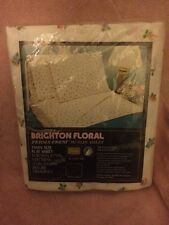 Wow! Vintage Brighton Floral Perms-Prest Muslin Sheet Twin Size FLAT Sheet - NOS