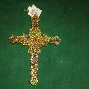 Christmas Ornament Jeweled Cross