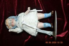 """Antique German 6"""" Bisque Doll Jointed, painted hair & face Mold #360/0"""