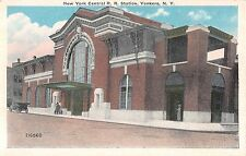 c.1915 New York Central RR Depot Yonkers NY post card Westchester county