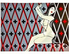 """Nani Chacon """"+++"""" Limited Edition Hand Signed Serigraph 32/50 Dine/Chicana Pinup"""