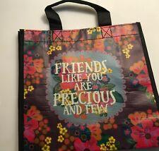 "Natural Life recycled plastic bag.9.""x9.5"" Medium Gift Bag  FRIENDS ARE PRECIOUS"