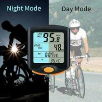 Wireless Bike Cycling Bicycle Cycle Computer Odometer Speedometer Backligh D3T9