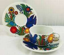 Villeroy & Boch ACAPULCO tea cup and saucer & spare saucer  - blue stamp