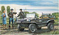 0313,Italeri-Tamiya, 1:35, Kfz. 69 Schwimmwagen mit Figuren, GMKT World of WarII