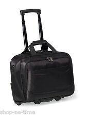 "Travis & Wells Wheeled 15"" Laptop / MacBook Pro Business Travel RFID Bag - New"