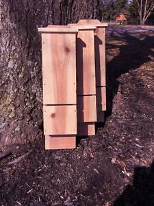 Single Chamber Cedar Bat House Box - Bats Nature's Mosquito Insect Control