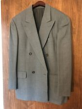 mens gray RENE LEZARD SUIT blazer jacket pants fine wool Size 42 / 34 waist