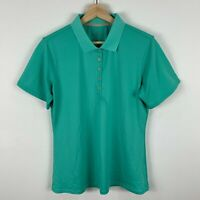 Kathmandu Womens Top Size 14 Neon Green Short Sleeve Button Closure