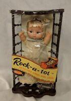 New Vintage UNEEDA Rock-A-Tot Baby Doll with Crib