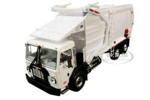 PETERBILT 520 GARBAGE TRUCK W/FRONT LOADER & BIN WHITE 1/34 FIRST GEAR 10-4193