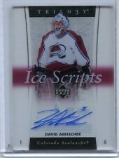 2005-06 UPPER DECK TRILOGY ICE SCRIPTS DAVID AEBISCHER AUTOGRAPH
