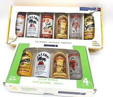Luminarc Shot Glasses Rum Vodka Gin Tequila Kahlua Vintage Set of 6+4 Shooters