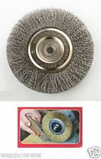 "PROFESSIONAL 6"" STEEL WIRE WHEEL BRUSHES FOR BENCH GRINDER 5/8 1/2 ARBOR"